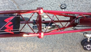 Top view of the Moulton spaceframe.